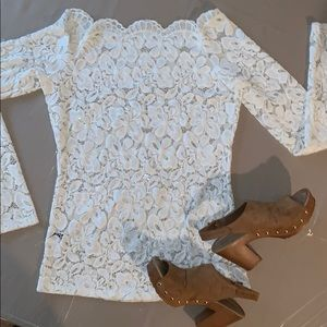 Tops - Beautiful Lace Off the Shoulder Top